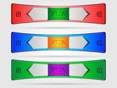 набор красочных технических баннеров — Cтоковый вектор