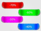 Vector Discount Stickers — Stock Vector