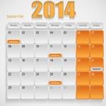 Calendar design September — Stock Vector #29270077