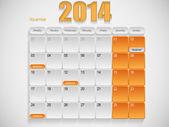 カレンダー デザイン 11 月 — ストックベクタ