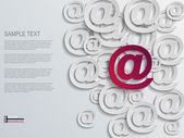 Mail abstracte achtergrond — Stockvector