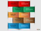 Plantilla de diseño infografía — Vector de stock