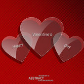 Heart glass - Valentines day — Vecteur