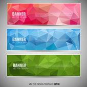 Banner di mosaico — Vettoriale Stock