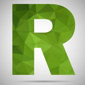 马赛克字母 r — 图库矢量图片