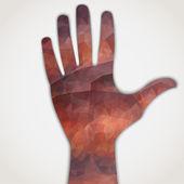 Hand vector — Stock Vector