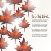 Maple leaf background — Stock Vector