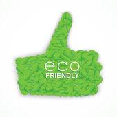 Like eco symbol — Stock Vector