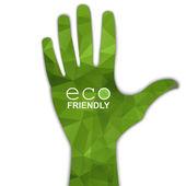 Hand eco symbol — Stock Vector