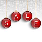 Bolas de navidad roja venta — Vector de stock