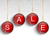 Red sale christmas balls — Stock Vector