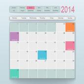 カレンダーのデザイン。3 月 — ストックベクタ