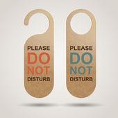 Do Not Disturb Sign — Stock Vector