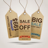 Vintage sale tags — Vetorial Stock