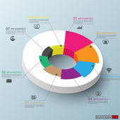 Abstract 3d infographics — Vetorial Stock