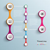 Time Line design template — Stock Vector