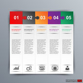 Infographics vector design template — Cтоковый вектор