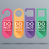 Do Not Disturb — Vector de stock