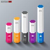 Infographics vector design template — Stock Vector