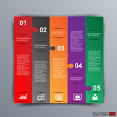 Abstract 3D paper Infographic — Vector de stock