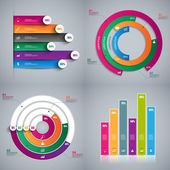 Set of Infographics vector design template — Stock Vector