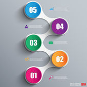 Abstract paper infographic — Stockvektor