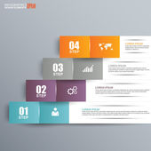Abstract paper infographic — Stock vektor