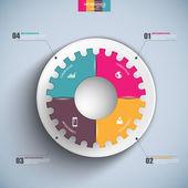 Infographics vektor formgivningsmall — Stockvektor