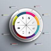 インフォ グラフィック ベクトル デザイン テンプレート — ストックベクタ