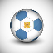 Soccer ball with Argentina flag isolated — Stock Vector