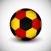 Soccer ball with Germany flag isolated — Stock Vector