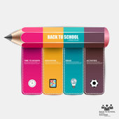 Education pencil success Infographics — Vector de stock