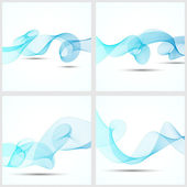 Set of abstract wave background — Stock Vector