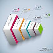 Infografiki szablon wektor — Wektor stockowy