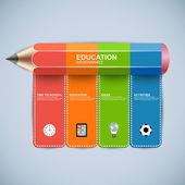 Terug naar school ontwerpsjabloon infographics — Stockvector
