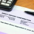 Direct Deposit Confirmation — Stock Photo