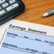 Earnings Statement — Stock Photo