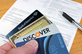 Popular Business and Personal Credit Cards — Stock Photo