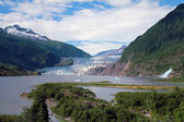 Mendenhall Glacier and Falls — Stock Photo