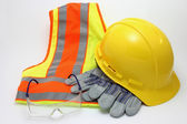 Construction Safety Apparel — Stock Photo