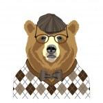 Bear portrait in retro style — Stock Vector #27895667