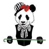 Panda in circus — Stock Vector