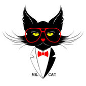 Mr. Cat portrait — Stock Vector