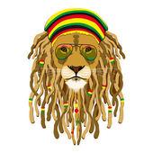 Rasta Lion — Stock Vector