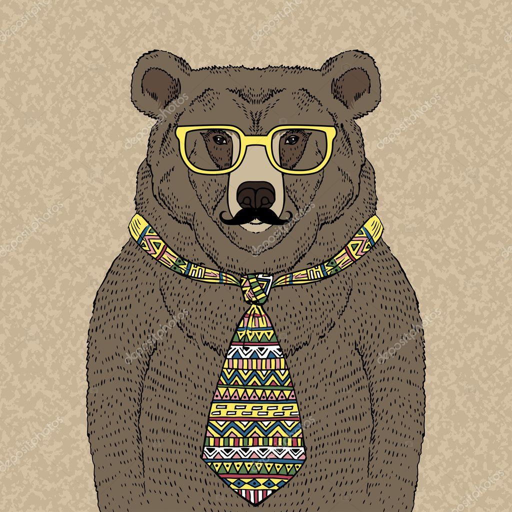 Hipster animals  Etsy
