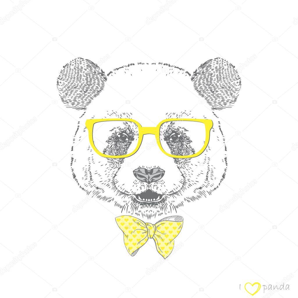 Панды милые нарисованные 1