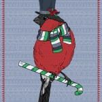 Illustration of Bullfinch Hipster — Stock Vector #34797135