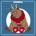 Vector Illustration of Bear — Stock Vector