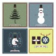 Greeting Cards in Hipster Style — Stock Vector