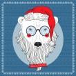 Polar Bear Santa — Stock Vector